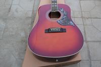 acoustic travel - 2015 Nova Fábrica Chibson hummingbird acoustic guitar Cherryburst G Colibri acústico da guitarra elétrica de corpo Sapele