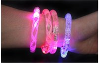 Wholesale halloween Luminous Bracelet Acrylic led bracelets with light color transformation LED flash Bracelet Glitter Glow Light Hand Ring Sticks