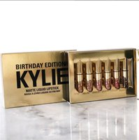 mini lip gloss - Hotest Fashion Kylie Jenner Limited Birthday Edition Gloss In POPPIN Different Colors Lip Gloss Mini Set Factory Direct