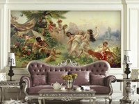 Wholesale China hot sale European non woven mural painting God of gods applicable sofa background decoration Court Hotel