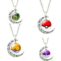 beauty timer - 2016 Newest Hot Sale Beauty Color Poke Mon Go Timer Diamond Necklace Moon Ball Shape Pendant Necklaces Fashion Jewelry