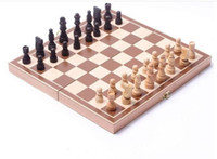 Wholesale Complete Travel Wooden Board Box Chess Set Portable Folding Wood Game