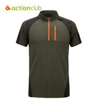 Wholesale Actionclub Brand Hiking T Shirt Men Quick Dry Coolmax T Shirt Homme Camping Fitness Running Couple Outdoor Sport T shirt SR292