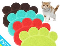 Wholesale New Colorful Pet Dog Puppy Cat Feeding Mat Pad Cute PVC Bed Dish Bowl Food Water Feed Placemat Wipe Clean Pet Supplies HY1108