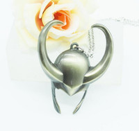 alliance helmet - 2016 Avengers3 Necklace Movie Jewelry The Avengers Alliance Mask Film Thor Rocky Helmet Necklace Thor The Dark World Loki Helmet Necklace