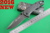 aluminum hunting boats - MICK Strider Flipper FA01 EDC Thallium boats Folding Knives CR13 OEM HRC Blade Aluminum Handle Camping Hunting Pocket Knives Clasp Tool