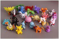 Wholesale 144PCS Poke Figures Toysh2 cm Pikachu Charizard Eevee Bulbasaur Suicune PVC Mini Model Toys For Children action figures