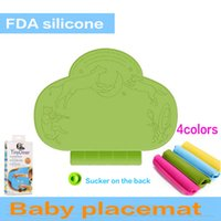 baby eating accessories - 2016 Baby Table Mat Cartoon Antibiosis Waterproof Tableware Infant Diner Placemat Feeding Mat Silicone Pad Tiny Eating Accessory Years
