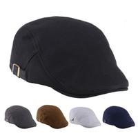 Wholesale 2015 hot newsboy hats new fashion mens womens solid color beret cap newsboy Caps Spring Forward hat Baseball cap factory price Q436