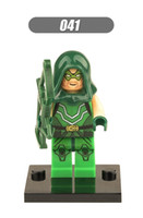 arrow building - XH Super Heroes Avengers Green Arrow Minifigures Building Blocks Assemble Single Model Minifigures Children Bricks Mini Figures Toys
