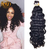 Wholesale Hot Sale A Deep Curly Brazilian Bulk Human Hair For Braiding Unprocessed Human Braiding Hair Bulk No Weft Indian Hair Bulk