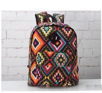 Wholesale Canvas Women Printing Backpack Two Desigsn Girl Sports Day Packs Casual Bag