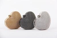 Brillant cristal strass mignon coeur nuptiale embrayage sacs de mariage sac à main mode populaires sacs à main demoiselle d'honneur femmes sac de soirée occasionnelle