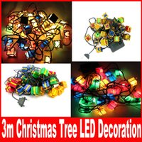 Wholesale Multi Color Christmas Tree Holiday Lighting M LED Gift Box Party Lights string Wedding Novelty light Free DHL