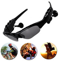 Wholesale Sunglasses Bluetooth Headset Wireless Sports Headphone Sunglass Stereo Handsfree Earphones mp3 Music Player With Retail Package