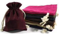 bead storage bags - Professional Plain Thick Suede Velvet Jewelry Gift Pouches Drawstring Storage Bag Crafts Trinket Bead Necklace Bracelet Packaging Bags