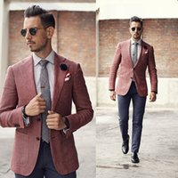 Wholesale Custom made Groom Tuxedos Two Pieces Slim Fit Formal Men Suit High Quality Men Wedding Suits