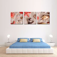 Wholesale Starfish Bedroom - LK3181 3 Panel Spiral Shell Starfish Oil Painting Pictures Prints On Canvas Wall Art For Home Decor Modern Decor For Bedroom Framed Unframe