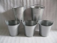 baby planter - Cheap D7 H7 CM Metal cup Planter tin box Iron pots wedding favor holder mini bucket baby shower pail