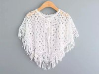 babies poncho - New Baby Girls Lace Cape Poncho Summer Children Sleeveless vest for Kids Clothing New Girls Tassels Jacket