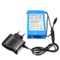Wholesale DC mAh DC V Super Lithium Li ion Super Rechargeable li on Battery Pack for wireless transmitter CCTV camera blue sets