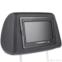 Wholesale 2pcs Universal quot HD TFT Car Headrest DVD Player Headrest Monitor Built in Screen AV IN Remote Controller