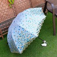 Wholesale High grade black plastic sun umbrella lady lace fair lady umbrella seventy percent off anti UV umbrella double