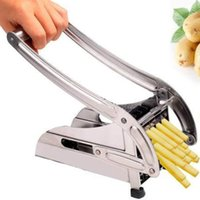 Wholesale HOT Stainless Steel Potato Chipper French Fry Potato Cutter Vegetable Chips Slicers kitchen accessories gadget cooking tools gadgets