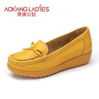 aokang shoes - AOKANG Spring New Arrival Women Flats shoes ladies shoes Brand women shoes Soft and Comfortable Many Colors Available