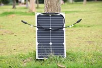 Wholesale New Style w semi flexible solar panel provide for v battery with flexible high efficiency USA solar cell solar module