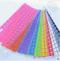 Wholesale 1500pcs CCA4110 High Quality Colorful Silicone Keyboard Cover Protector Skin US Apple Macbook Pro MAC Air Laptop Keyboard Cases