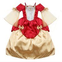 baby sleeping beauty - Top new child clothes baby grils dress flowers red Joining together sleeping beauty princess dress size