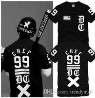 baseball tees for men wholesale - 2016 Euramerican Chef t Shirts For Men Trendy Brand Skateboard Baseball Sports Mens t Shirts Hip Hop Tee Shirt