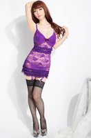 Wholesale Purple New Hot Ladies Sexy Underwear Body Lingerie Erotic Costumes Sex Clothes For Women Free Size Freeshipping