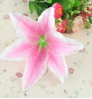 artificial tiger lily - 13cm decorated with artificial flowers heart flowers lily lilies selling foreign high grade silk flower head tiger orchid