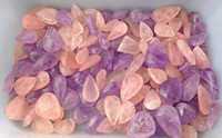 Wholesale Lucky Natural Heart Teardrop Shape Loose pink purple Crystal pendant Necklace Jewelry Valentine s Day