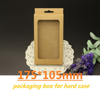 Wholesale 175X105 Retail Package Kraft Brown Paper Carton Board Packing Box for iphone5 plus Samsung Galaxy s5 Note Cell Phone Cases Packaging Boxes