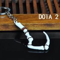 Wholesale DOTA Butcher Hook Keychain Zinc Alloy Keychain Creepy Cute Keychain Funny Keychain Quirky Jewelry Geek Weird Keychain