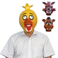 bear halloween mask - Five Nights at Freddy s foxy pirate freddy bear chica mask FNAF latex mask new