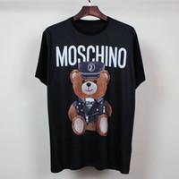 bear tshirts - Summer short sleeved t shirt tide brand men and women cotton T bear design casual tshirts