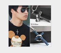 accessories bibles - 2016 New fashion Men s accessories titanium steel bible lines cross ring ring necklace pendant