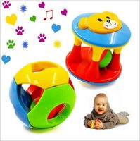 Wholesale 10pcs Baby Toy Fun Little Loud Jingle Ball Ring jingle Develop Baby Intelligence Training Grasping ability Toy For Baby M Year
