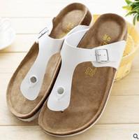 best leather sandals for men - White Slipper for Men Best Selling Birkenstock Men Beach Sandals Flip Flops Man Summer Shoes
