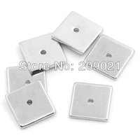 Wholesale Finding Copper Spacer Beads Square Silver Tone mm x mm quot x quot