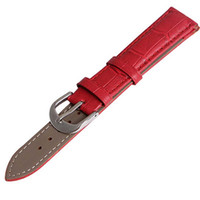 Wholesale New mm mm mm mm mm mm mm Red Genuine Calfskin Calf Leather Watch Band Strap Watchband