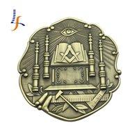 antique car emblems - Antique Surface Ancient Temple Masonic Auto Car Emblems