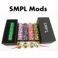 Wholesale Colorful SMPL Mods E Cigarette Vape Mods Camo SMPL Mechanical Mods Fit M atty RDA NarDA RDA Fast Shipping