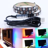 background strip - 5V USB LED strip RGB LED Strip Light Laptop Computer TV Background Flexible Lighting With Mini RGB Controller