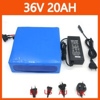 Wholesale More Discount W Rechargeable V motor Lithium battery V AH Electric Bike battery Pack with PVC case A BMS V A charger