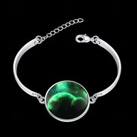 Wholesale European and American fashion retro alloy silver Star Series Crystal Glass Bracelet